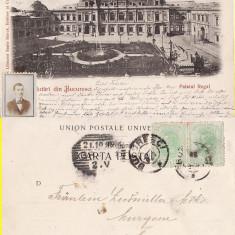 Bucuresti - Palatul Regal- clasica, rara - Carte Postala Muntenia pana la 1904, Circulata, Printata