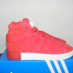 Ghete Adidas Tubular Invader Trainers Red/Red/Vintage White nr. 40 2/3 - Ghete barbati Adidas, Culoare: Rosu, Piele intoarsa