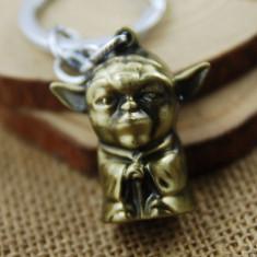 Breloc  metal Star Wars  YODA Master + ambalaj cadou