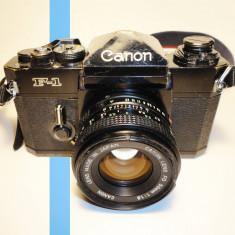 Canon F-1 + Canon FD 50mm 1.8 - Aparate Foto cu Film