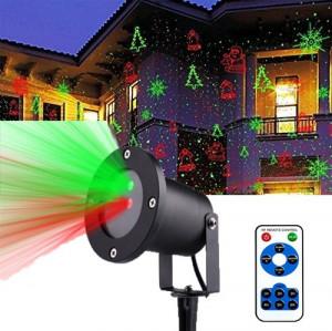 Laser Exterior Craciun cu lumini miscatoare 12 in 1