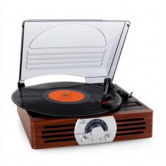 Auna TT - 83N, placa turnanta, FM / MW din lemn - Pickup audio