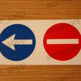 Sticker DEPASIRE INTERZIS 73 mm