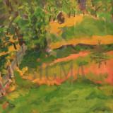 TABLOU, SILVIA RADU, PITIGAIA, U/C, 2005 - Pictor roman