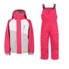 Set ski copii Trespass Crawley Roz 9/10 - Echipament ski Trespass, Costum