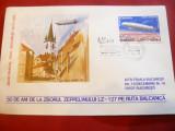 2 Plicuri speciale - 50 Ani Zbor Zepelin LZ 127 pe ruta Balcanica 1979