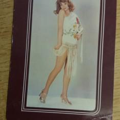 CCO 1977 - CALENDAR DE COLECTIE - TEMATICA RECLAMA - HAINE - ANUL 1977 - Calendar colectie