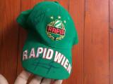 Sapca cu autograf / autografe sport - FC Rapid Wien ( Viena ) !!!