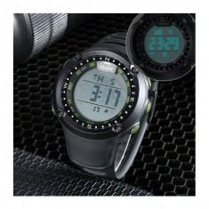 Cadoul Ideal Ceas Sport/Militar, Rezistent Apa, Alarma, Timer, Background Iluminat - Ceas barbatesc, Quartz, Plastic, Cauciuc, Cronograf