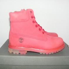 "Ghete Timberland Icon 6"" Premium A148z Leather nr. 37 - Gheata dama Timberland, Culoare: Rose, Piele intoarsa"