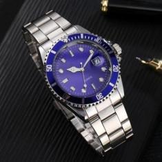 Ceas barbatesc stil Rolex, albastru, Quartz