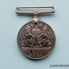 Medalie Marea Britanie - DEFENCE MEDAL 1939 - 1945 - Decoratie