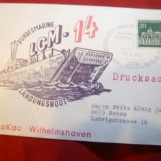 Carton stampila speciala Landungsboot - RFG - Marina -Nava pt debarcare trupe'72