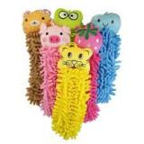 Prosop de baie cu figurine animate pentru copii, Roz