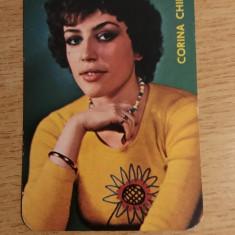 CCO 1977 - CALENDAR DE COLECTIE TEMATICA ARTISTI - CORINA CHIRIAC - ANUL 1977 - Calendar colectie