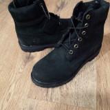 Bocanci TIMBERLAND Primaloft originali noi piele waterproof nubuck negru 38.5