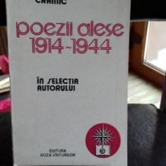 POEZII ALESE 1914 - 1944 - NICHIFOR CRAINIC