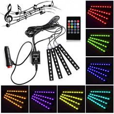 Kit lumini LED RGB 5050 36 LED interior auto telecomanda senzor muzica - Lumini interior auto, Volkswagen