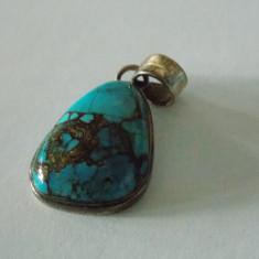 Pandant argint cu turcoaz -2406 - Pandantiv argint