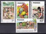 Rwanda  1987  fructe  MI 1362-65   MNH  w47, Nestampilat