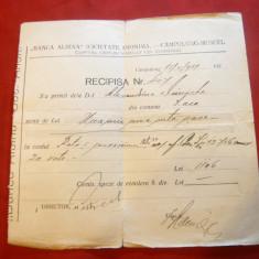 Recipisa cu Antet - Banca Albina Campulung Muscel 1934 - Hartie cu Antet