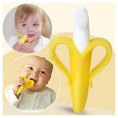 Jucarie dentitie tip banana din silicon de inalta calitate