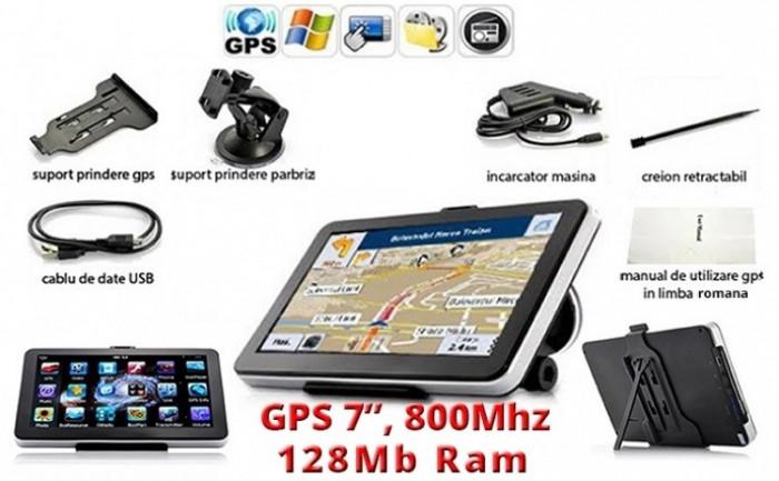 "GPS Auto NaviTel 7"", Navigatie AUTO, TAXI, TIR, CAMION, IGO 3D Full EUROPA + RO"