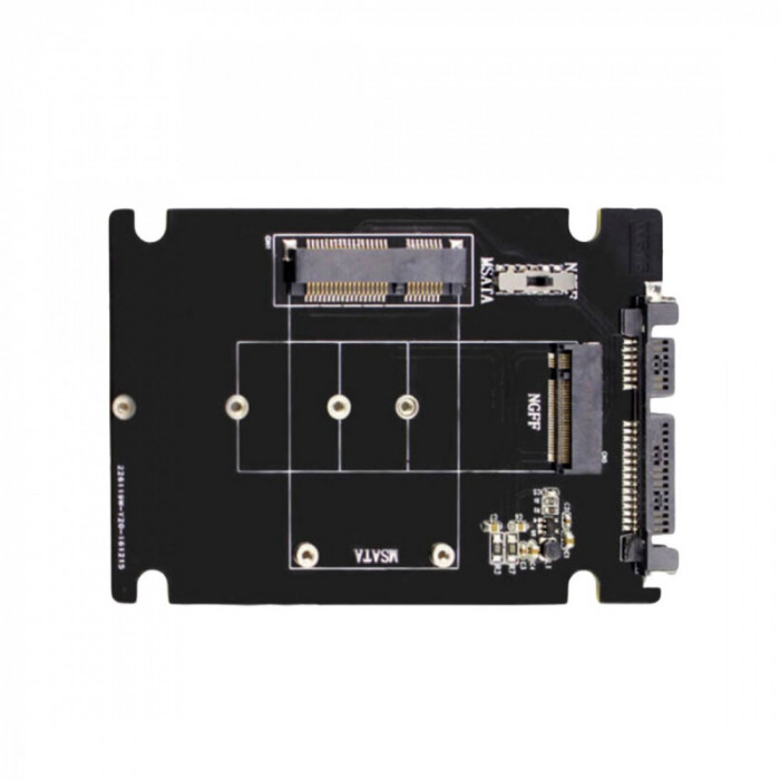 2in1 adaptor convertor mSATA + M.2 NGFF la SATA 3 2.5 inch pt SSD