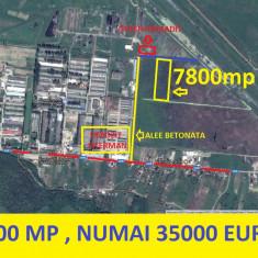 Tomesti, fostul COMTOM, 7800 mp, intravilan, numai 35000 euro - Teren de vanzare, Teren intravilan