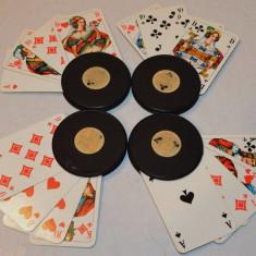 Suporti vechi pentru carti de joc Canasta, Romme, Poker