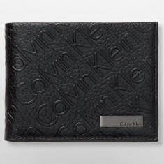 Portofel CALVIN KLEIN Negru Logo - Portofele Barbati - Piele - 100% AUTENTIC