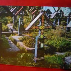 Ilustrata Sapanta - Cimitirul Vesel , anii '70