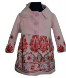 Palton elegant pentru fetite-Colibri PCL4-R, Roz