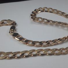 Lant Barbati dublu placat aur 18K cod LSB16 - Lantisor placate cu aur