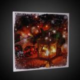 Tablou LED canvas, Christmas Decor, 30x30 cm