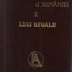 Hamangiu / CODUL GENERAL AL ROMANIEI, vol.II : LEGI UZUALE - editie 1907