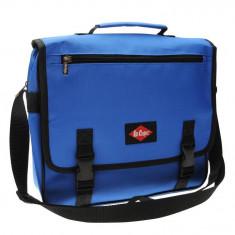 In STOC! GeantaLee Cooper Messenger Albastra - Originala - H29cm x W32cm x D9cm, Geanta tip postas, Albastru, Lee Cooper