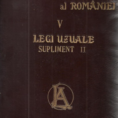 Hamangiu / CODUL GENERAL AL ROMANIEI, vol.V : LEGI UZUALE - editie 1909 - Carte Istoria dreptului