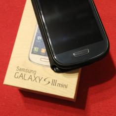 Samsung S3 mini impecabil, fara zgarieturi - Telefon mobil Samsung Galaxy S3 Mini, Albastru, 8GB, Neblocat