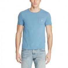 Tricou RALPH LAUREN Classic Fit - Tricouri Barbati - 100% AUTENTIC - Tricou barbati Ralph Lauren, Marime: S, M, L, Culoare: Albastru, Maneca scurta, Bumbac