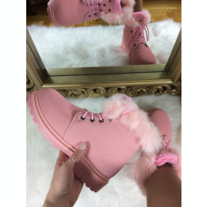 Ghete dama roz imblanite marime   39, 40+CADOU