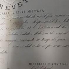 Brevet Medalia Virtute Militara cls a 2-a, 1885, Carol 1. Rarisim !!