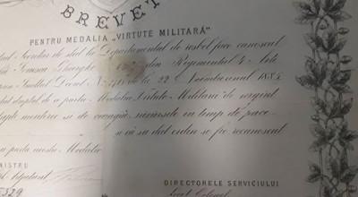 Brevet Medalia Virtute Militara cls a 2-a , 1885 , Carol 1. Rarisim !! foto