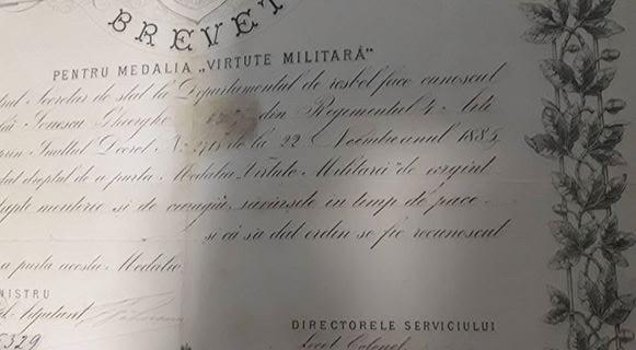 Brevet Medalia Virtute Militara cls a 2-a , 1885 , Carol 1. Rarisim !!