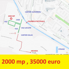 2000 MP, Galata, intravilan Iasi, 35000 euro - Teren de vanzare, Teren intravilan