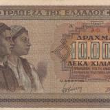 GRECIA 10.000 drahme 1942 VF+++/aXF!!! - bancnota europa