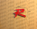 Emblema R rosu type