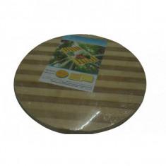Tocător rotund din lemn de bambus, Ertone, 25 cm - Tocator bucatarie