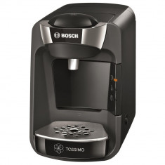 Espressor + 12 cutii capsule L'Or, Bosch Tassimo Suny TAS 3702, 1300 W, 3.3 bar, 0.8 l, Capsule, Negru