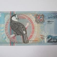 Suriname 25 Gulden 2000 UNC - bancnota america